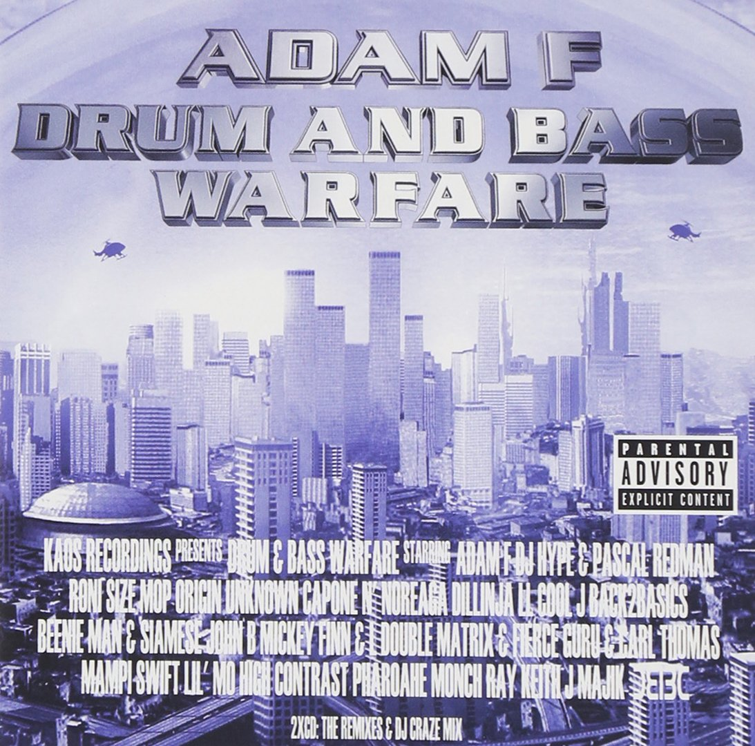 Adam F Presents Drum Bass Warfare Music Kaos Dub Step