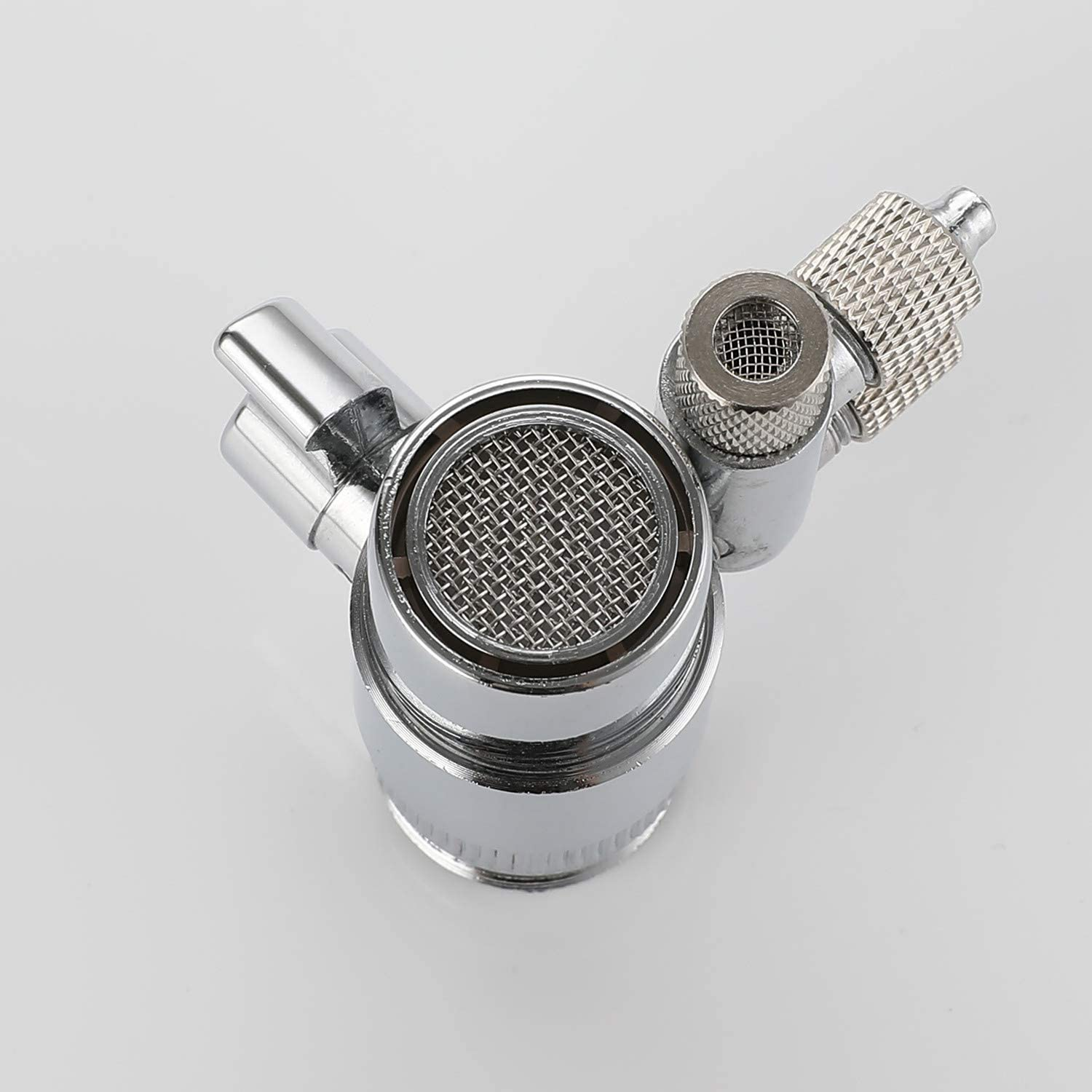 Faucet Connector for Water Diversion ROLYA Two Way Faucet Diverter Valve with Aerator M22 Female Thread Faucet Adapter for 1//4 RO Tubing Faucet Tap for Countertop Water Filter