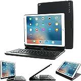 iPad Pro 12.9 2017/2015 Keyboard, Snugg [Black] Wireless Bluetooth Keyboard Case Cover 360° degree Rotatable Keyboard for Apple iPad Pro 12.9 2017/2015