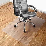 チェアマット 100×120cm 床保護マット ずれない 透明 PVC厚み1.5mm SGS認証済無毒エコ素材 大型デスク足元マット 傷防止 すべり止め フローリング 床を保護 机下/椅子/フロア/畳/床暖房対応/オフィス