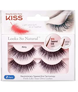 d4631b5103a Kiss Lashes Kiss Look so Natural Double Pack - Eyelashes - Flirty, 0.005  Pounds
