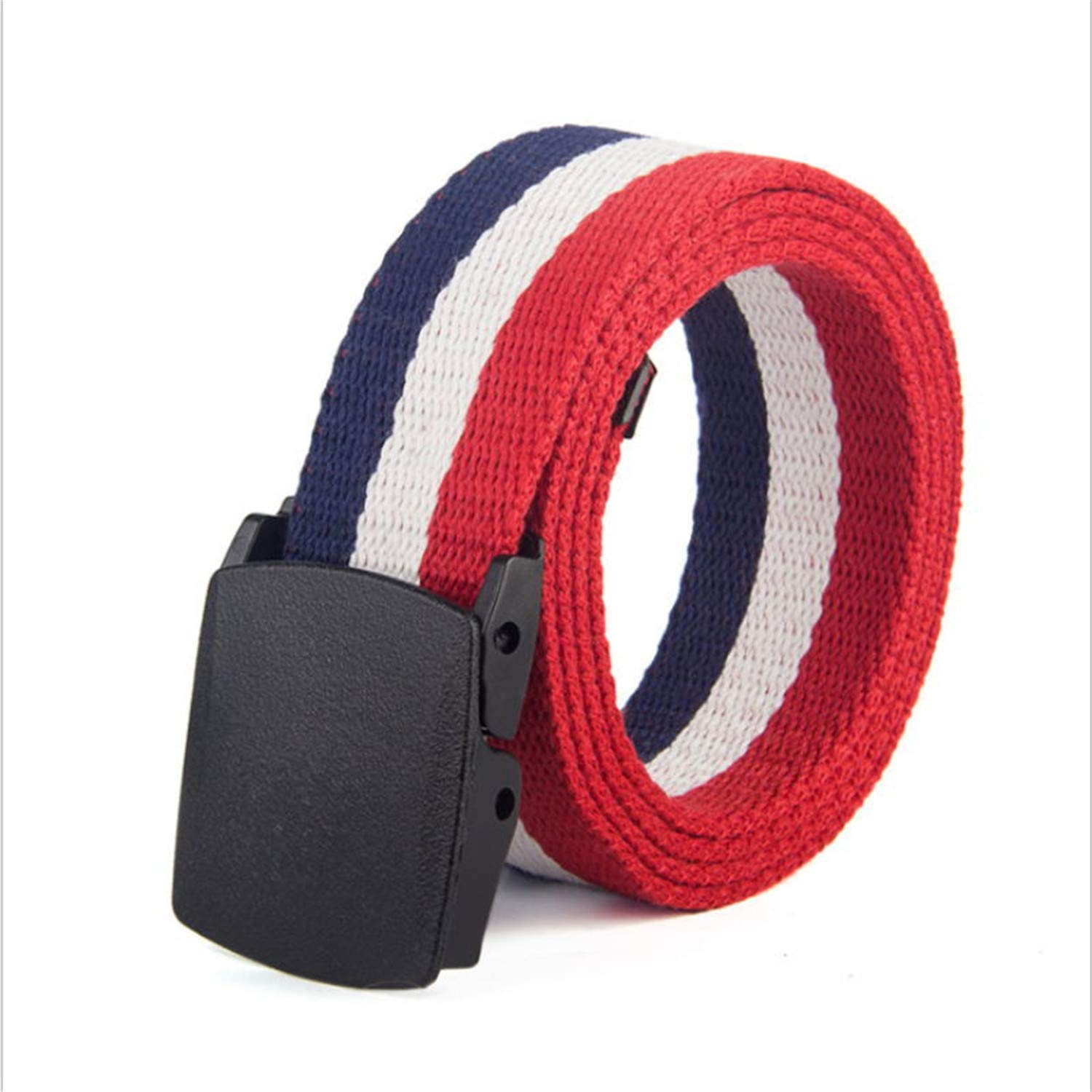 Mens Automatic Buckle Stripe Canvas Belts For Women Army Tactical Belt Waistband