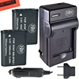 BM Premium 2-Pack of NP-BX1 NP-BX1/M8 Batteries & Charger for Sony CyberShot DSC-RX100 V, DSC-HX80, HDR-AS50, DSC-RX1, DSC-RX1R, DSC-RX1R II, DSC-RX100, DSC-RX100M II, DSC-RX100 III, DSC-RX100 IV, DSC-H300, DSC-H400, DSC-HX300, DSC-HX50V, DSC-HX60V, DSC-HX80V, DSC-HX90V, DSC-WX300, DSC-WX350, HDR-AS10, HDR-AS15, HDR-AS30V, HDR-AS100V, HDR-AS100VR, HDR-AS200V, HDR-AS200VR, HDR-CX240, HDR-CX405, HDR-CX440, HDR-PJ275, HDR-PJ440, HDR-MV1, FDR-X1000V, FDR-X1000VR Digital Camera