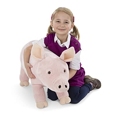 Melissa & Doug Giant Pig - Lifelike Stuffed Animal (over 2 feet long): Melissa & Doug: Toys & Games [5Bkhe1205456]