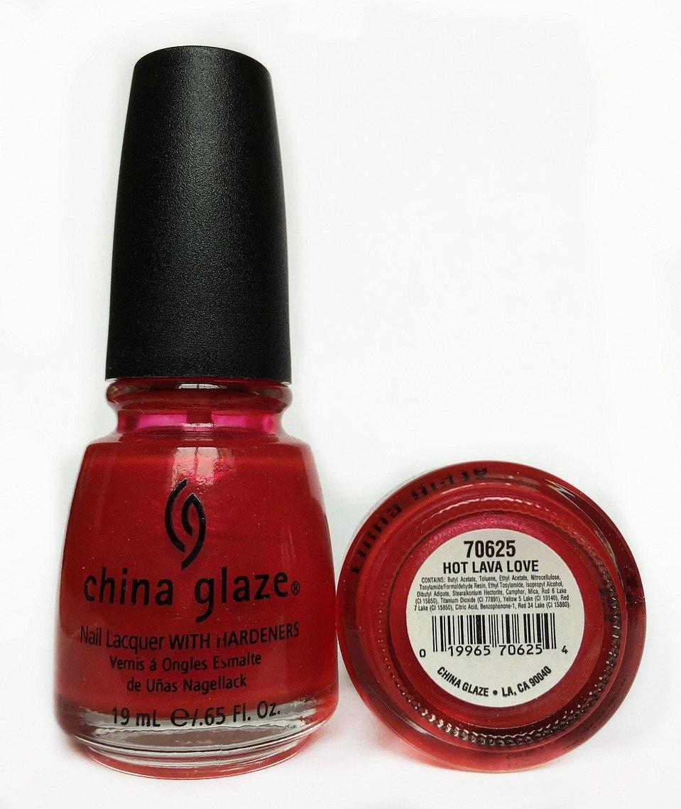 Amazon.com : China Glaze Nail Lacquer, Hot Lava Love, 0.5 Fluid ...