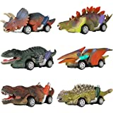 DINOBROS Dinosaur Toy Pull Back Cars, 6 Pack Dino Toys for 3 Year Old Boys and Toddlers, Boy Toys Age 3,4,5 and Up, Pull…