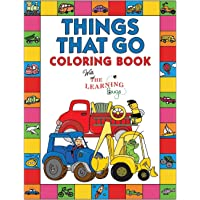 Things That Go Coloring Book with The Learning Bugs: Fun Children's Coloring Book for Toddlers & Kids Ages 3-8 with 50 Pages to Color & Learn About Cars, Trucks, Tractors, Trains, Planes & More