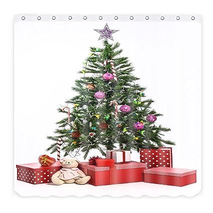 Christmas Tree With Presents.Amazon Com Alfalfa Christmas Shower Curtain Sets Christmas