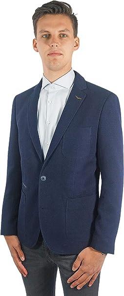 PME Legend Herren Sakko Carrier Fighter Blazer Jackett Anzug Jacke Klassisch Sportlich Regular Blau