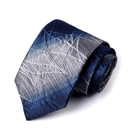 HONGNA 8 Cm Moda Empresarial Corbata Gris Azul Rojo Gris Malla ...