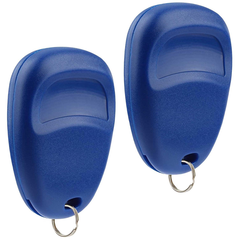 Blue Set of 2 USARemote Key Fob Keyless Entry Remote fits Cadillac Escalade // Chevy Avalanche S10 Silverado Suburban Tahoe // GMC Sierra Sonoma Yukon