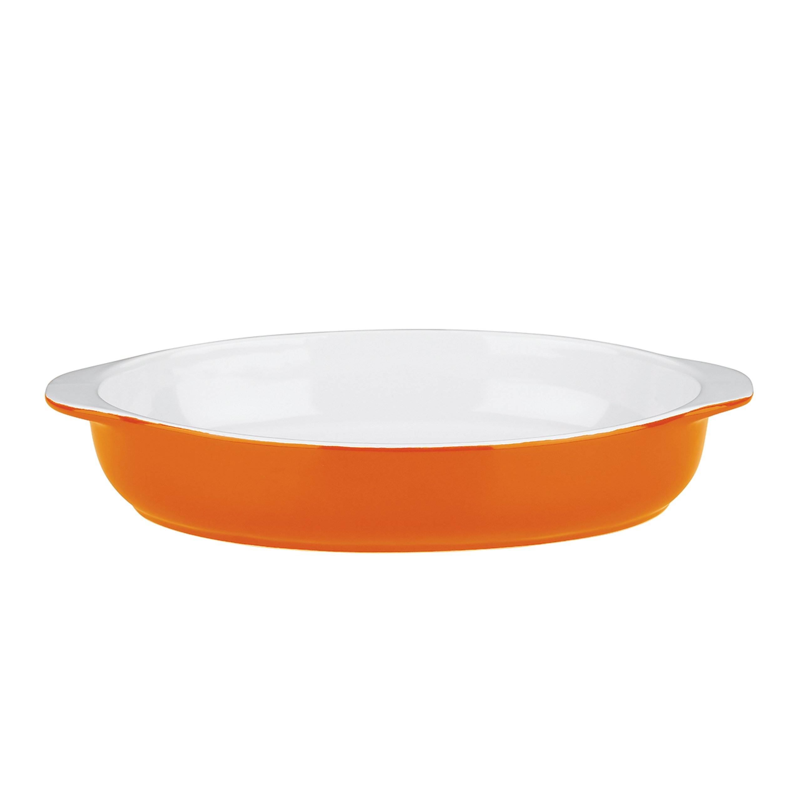 Mario Batali by Dansk 826882 Stoneware 11.5-Inch Oval Au Gratin, Large, Persimmon