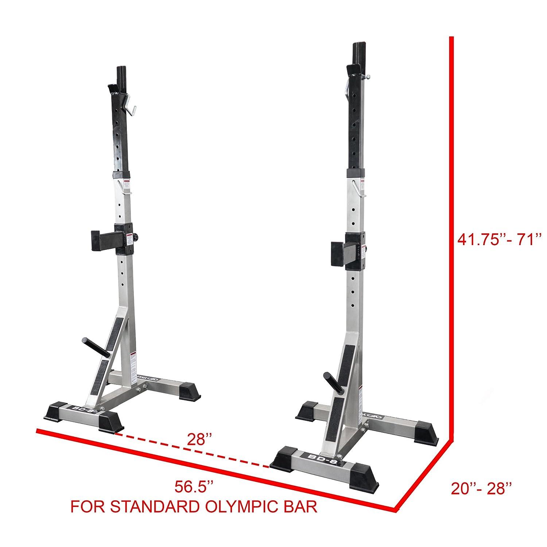 Valor Fitness Bd-8 Deluxe Squat soporte: Amazon.es: Deportes y aire libre