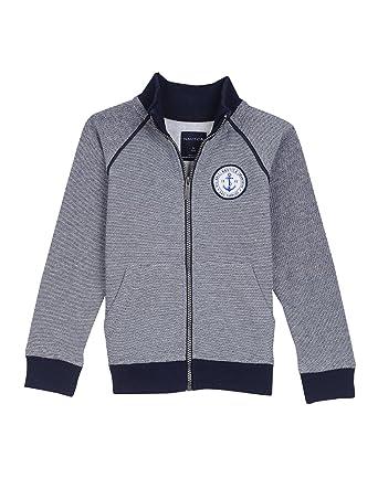 dc0ba87e4e3 Amazon.com  Nautica Boys  Big Fleece Jacket with Piping  Clothing