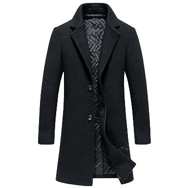 SUNNY SHOP Wool Long Coat Men Winter Sale Warm Tweed Long Trench ...