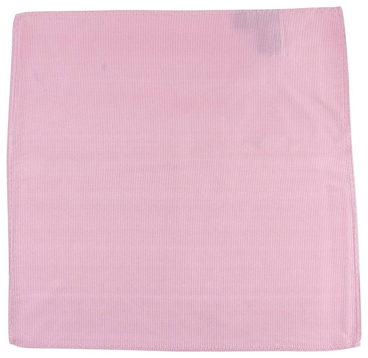 Knightsbridge Neckwear Mens Ribbed Silk Pocket Square Soft Pink