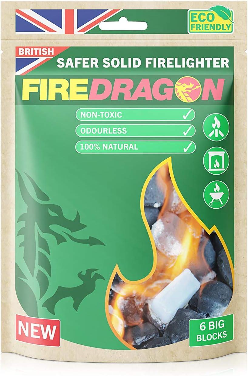 Fire Dragon Solid (6 x 27g Tablets) Encendedor de Incendios para Exteriores e Interiores, Unisex, Transparente