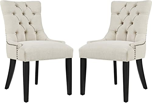 Modway Regent Modern Elegant Button-Tufted Upholstered Fabric Dining Chair