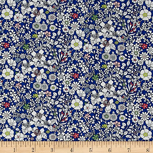 Liberty of London Junes Meadow Lawn Blue Fabric By The Yard