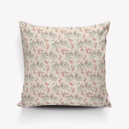 Cuadrado de lino y algodón manta decorativa Funda de ...