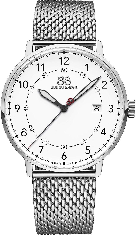 88 Rue du Rhone Reloj de Cuarzo Suizo Newold Collection para Hombre 87WA184010 Esfera Blanca