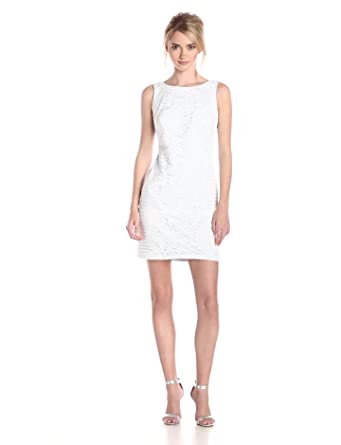 Jessica Simpson Women's Lace Dress, White, 12