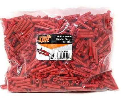 1000 Pack SPIT RED Wall Plugs HIGH Quality Masonry Brick Stone Block RAWL Plug