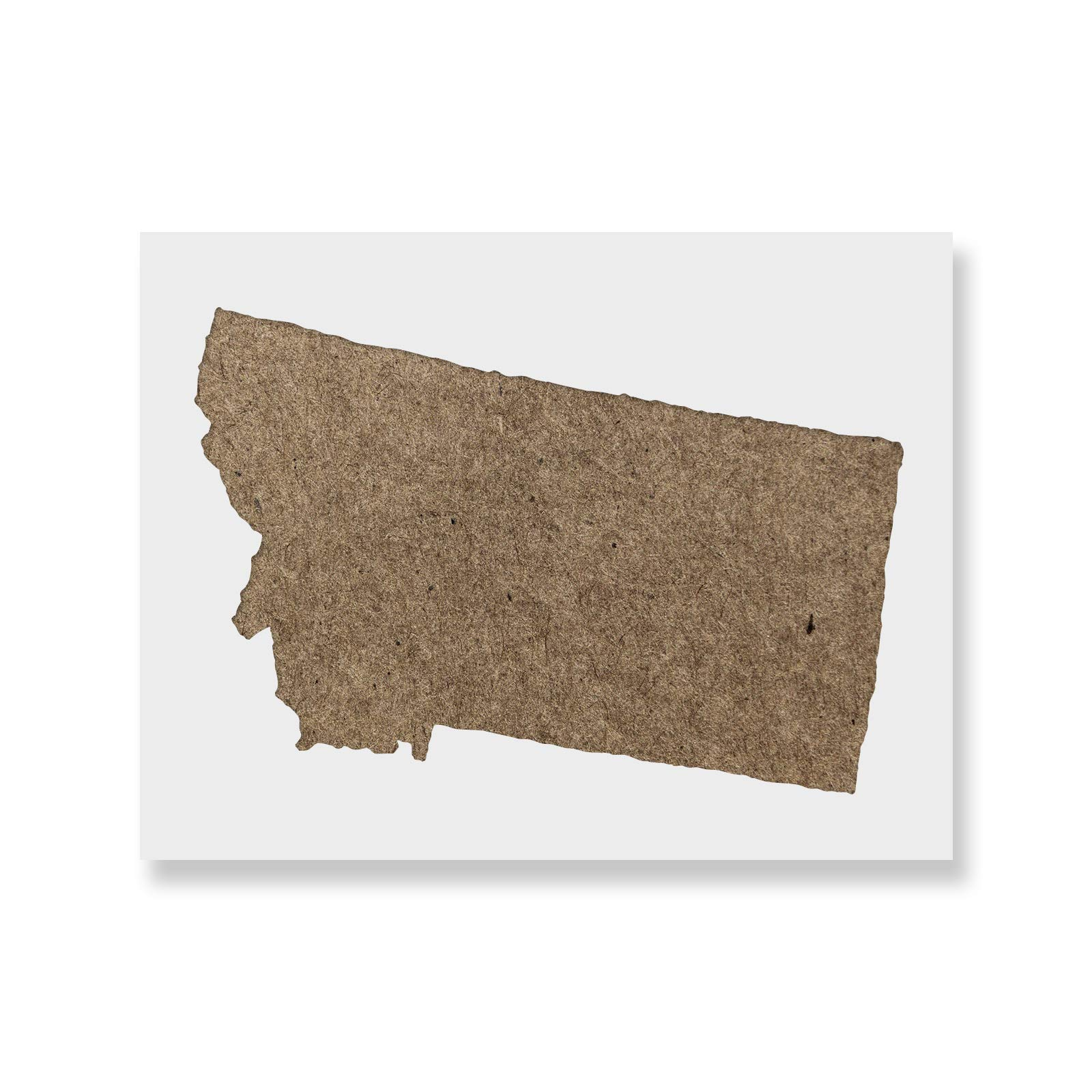 Montana State Stencil Template - Reusable Stencil with Multiple Sizes Available by Stencil Revolution (Image #1)