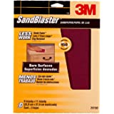 3M SandBlaster Bare Surfaces Sandpaper, 150-Grit, 9-Inch by 11-Inch, 3-Pack