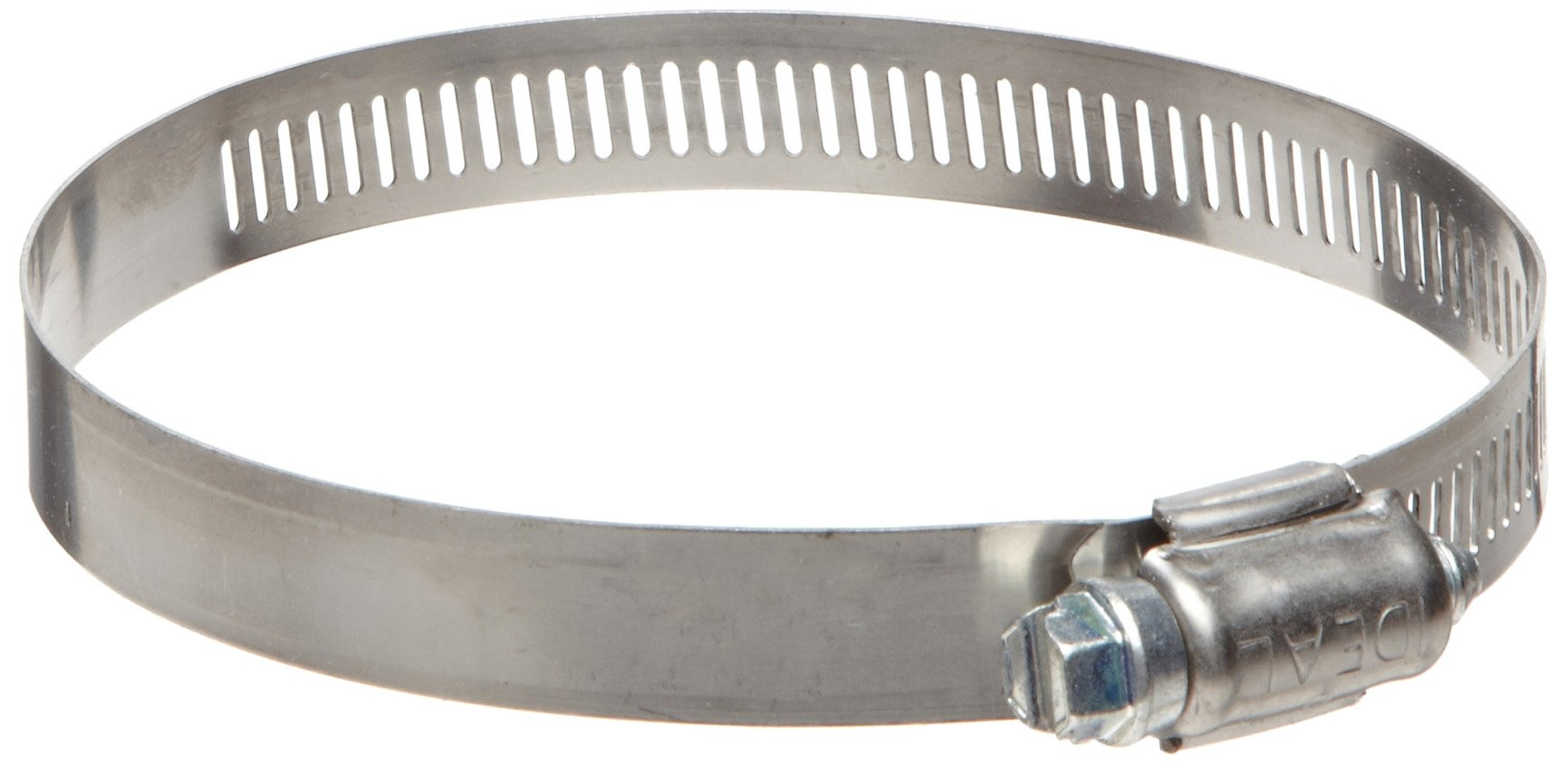 Ideal 57 SeriesStainless Steel 201/301 Worm Gear Hose Clamp, 2-3/4'' Clamp ID, 3-3/4''Clamp OD, 1/2'' Band Width, Pack Of 10