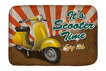 Cama Perro Coches Vintage Tiempo de motos impreso 40x60 cm: Amazon.es: Hogar