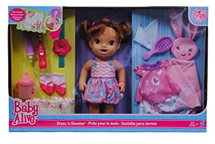 Amazon Com Baby Alive Dress N Slumber Toys Games