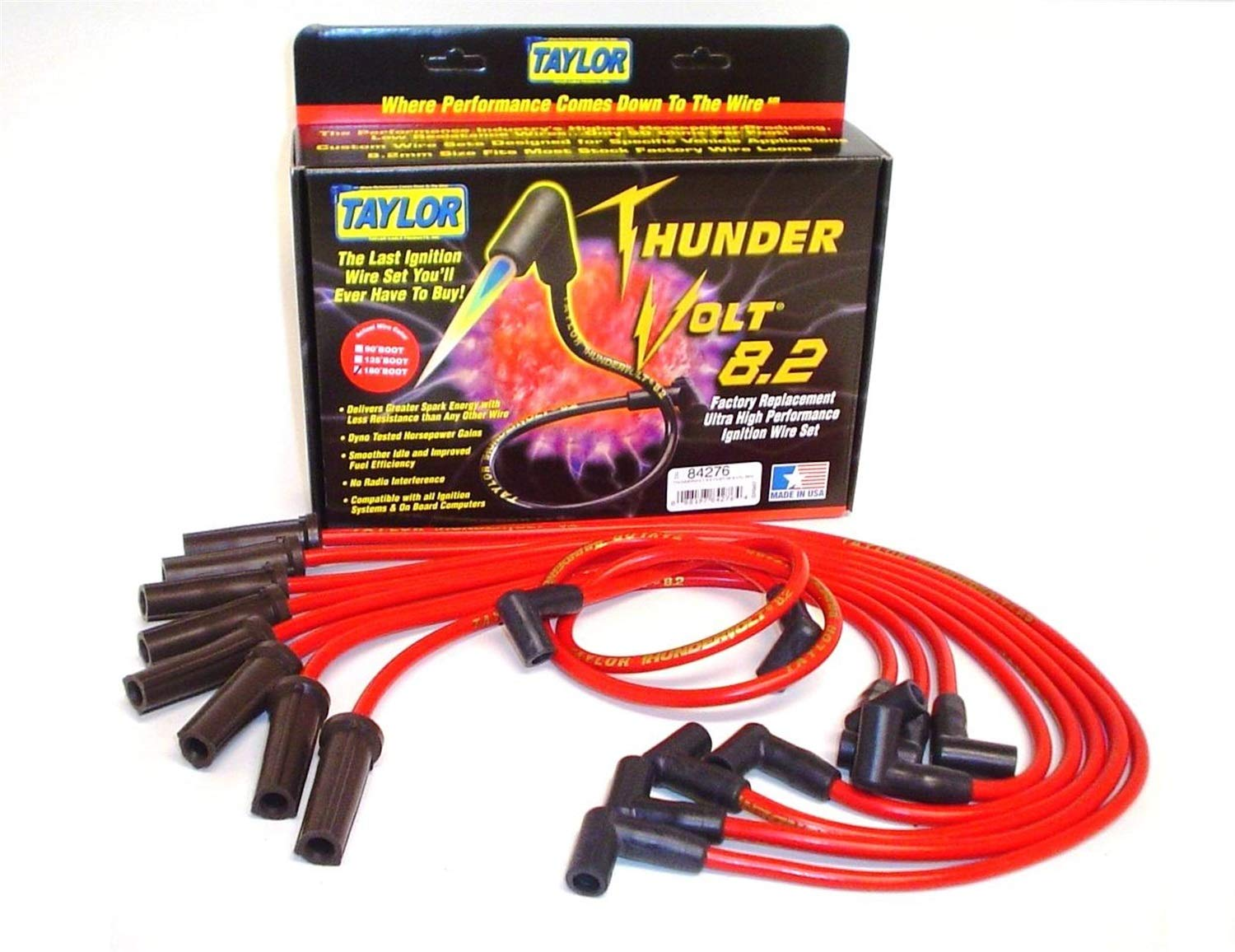 Taylor Cable 84276 ThunderVolt 8.2 Spark Plug Wire Set by Taylor Cable