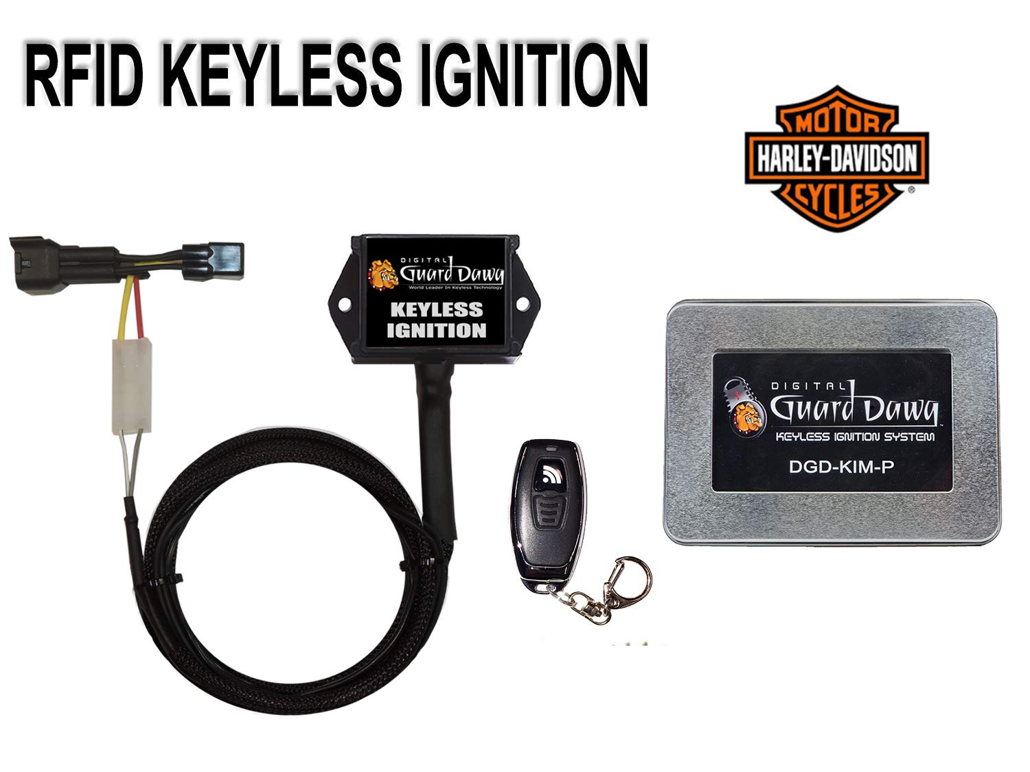 Keyless Ignition for Harley Davidson Motorcycle-ALL PRE 2012 Models by Digital Guard Dawg (Image #1)