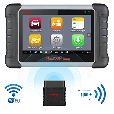 Autel Scanner MaxiCOM MK808BT Diagnostic Tool, Upgraded Version of MK808, with MaxiVCI Supports Full System Scan & Key Fob Programming, ABS Bleed, Oil Reset, EPB, BMS, SAS, DPF(Maxicheck Pro + MD802): Automotive