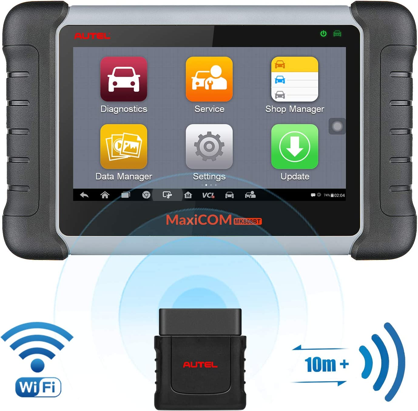 Autel Scanner MaxiCOM MK808BT Diagnostic Tool, Upgraded Version of MK808, with MaxiVCI Supports Full System Scan & Key Fob Programming, ABS Bleed, Oil Reset, EPB, BMS, SAS, DPF(Maxicheck Pro + MD802)