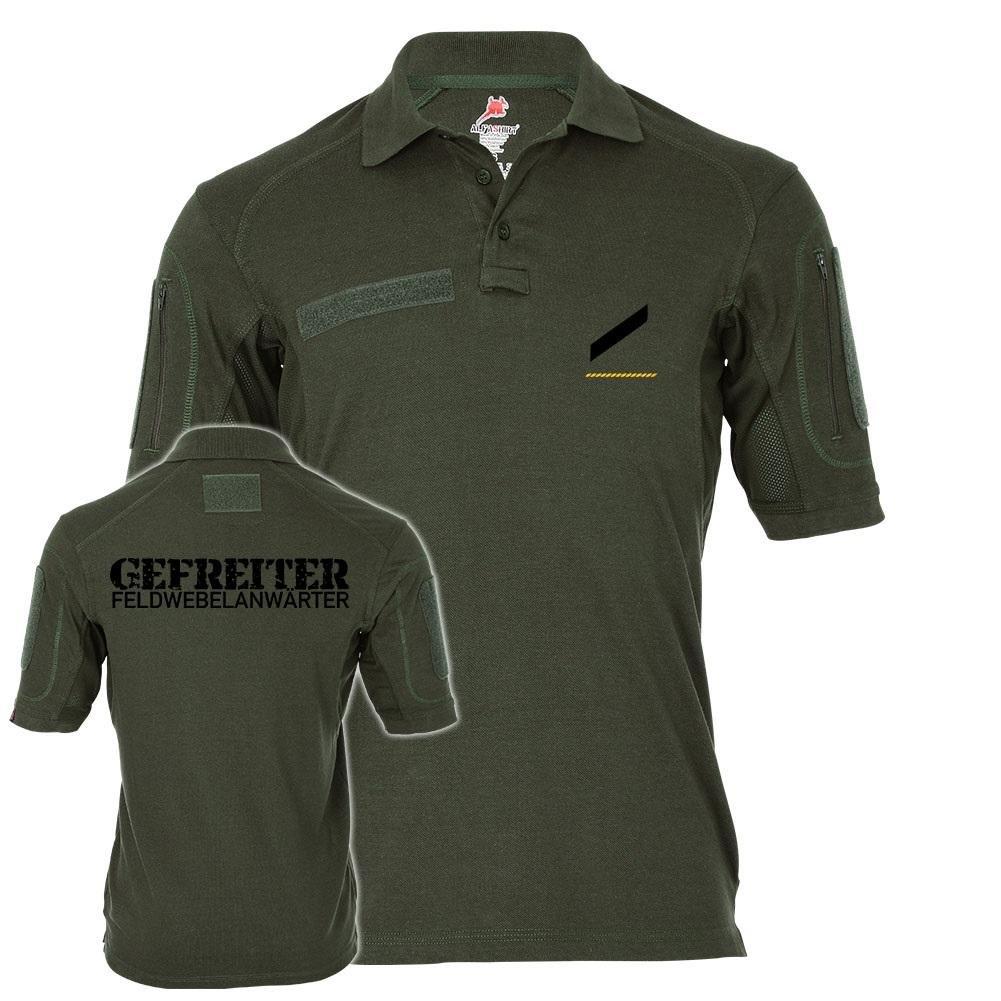 Tactical Poloshirt Alfa - Feldwebelanwärter Gefreiter Gefr FA Rangordnung Bundeswehr Abzeichen  19278