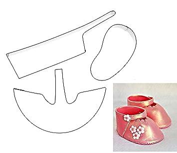 Kit Box Cutter cortador - 3d bebé zapatos - Cortador para celebración tortas - bautizo, Baby Shower, nuevo bebé celebración tortas: Amazon.es: Hogar