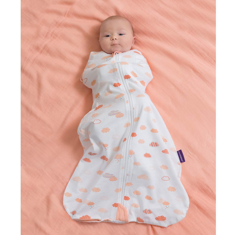 Saco de Dormir para Beb/és 100/% Algod/ón 0-9 Meses Clevamama