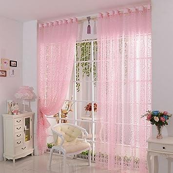 Amazon De Vorhang Ddlbiz Druck Blumen Voile Tur Vorhang Fenster