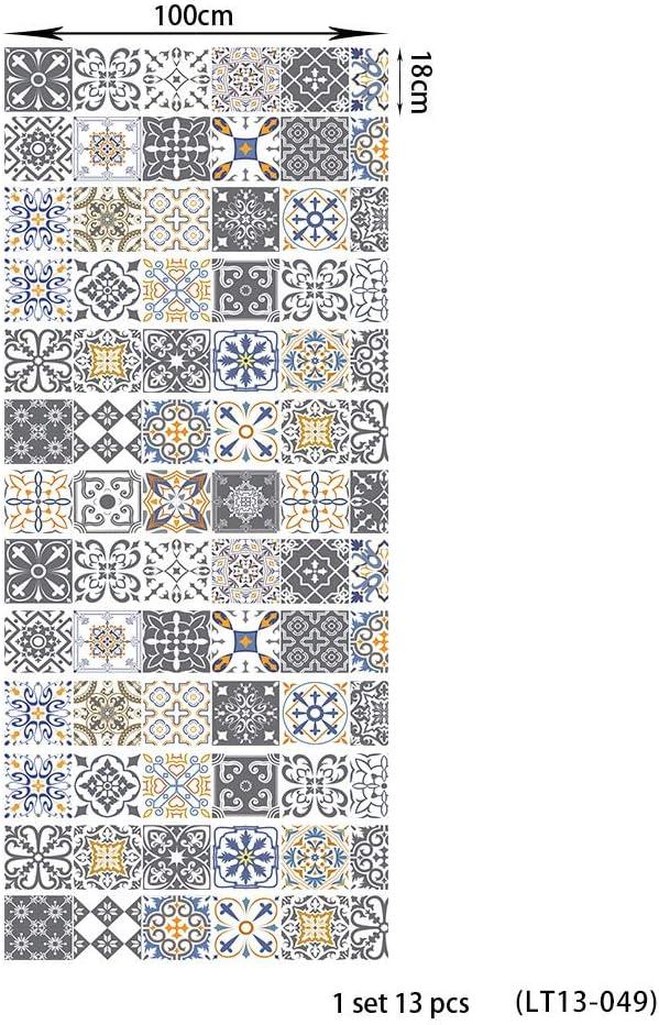 Pegatinas escaleras pelda/ños autoadhesivo 13 pcs efecto de mosaico gris 3D cl/ásico Renovaci/ón Impermeable Calcoman/ía arte DIY Pasos regalo Molduras Actualizaci/ón profesional vinilo