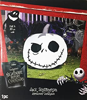 nightmare before christmas jack skellington pumpkin airblown inflatable decoration