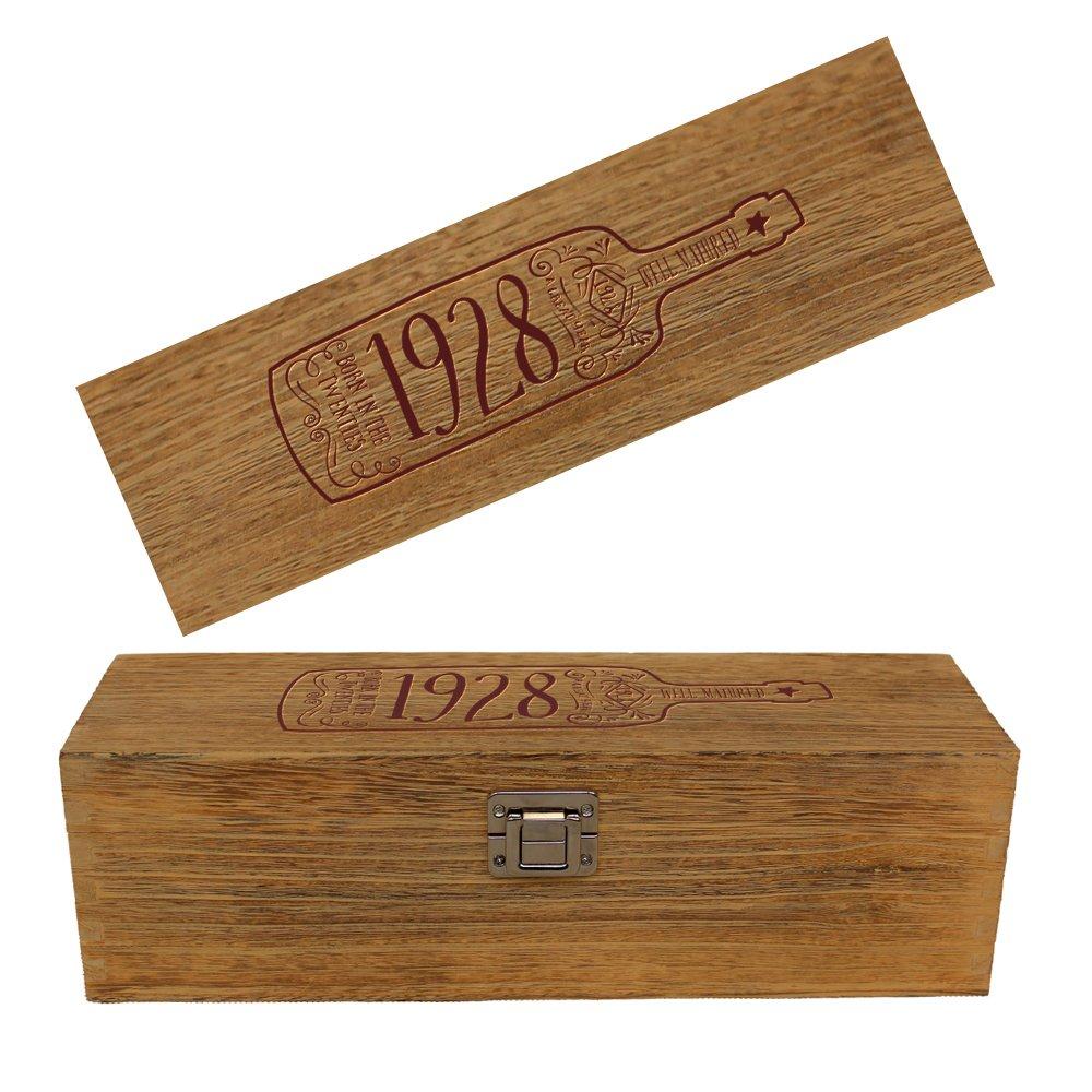 90th Birthday, 1928 Vintage Box, 90th Birthday Gift, 90th Birthday Idea, 1928, Happy Birthday, 90th Birthday Present for 90 Year Old! (Oak Effect) Design Invent Print!