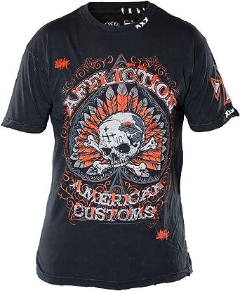 Affliction Men/'s Tiger Sport Tee Shirt Black