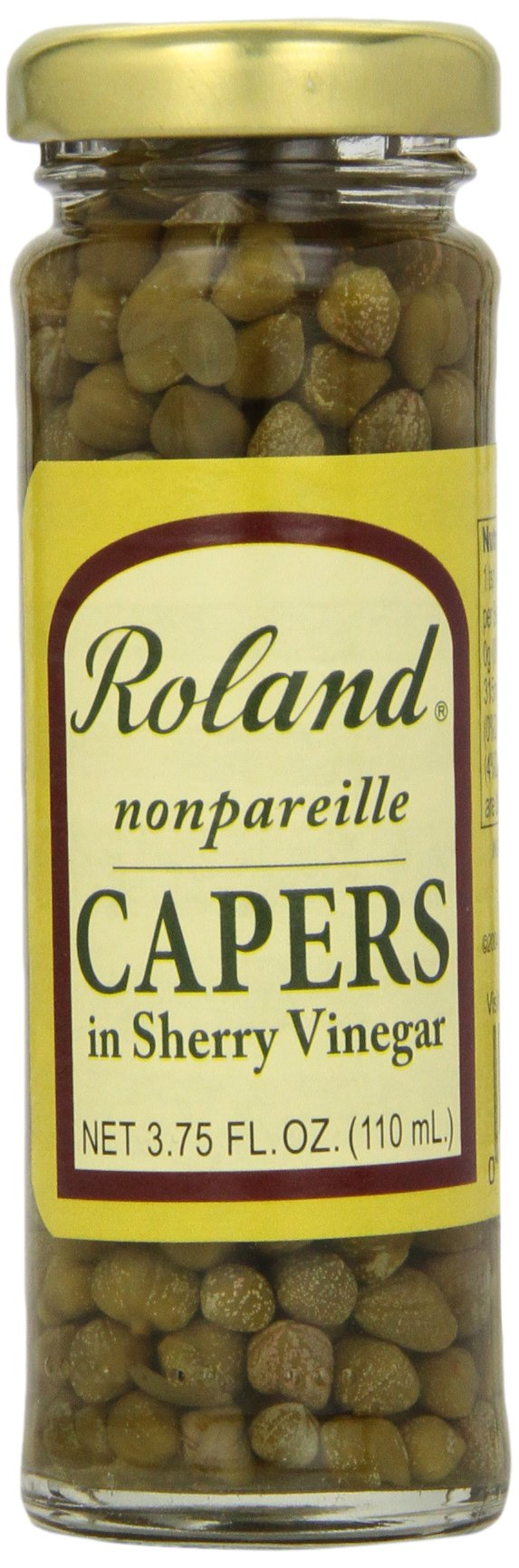 Roland Nonpareille Capers, in Sherry Vinegar, 3.75 Ounce (Pack of 12)