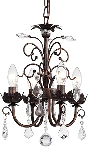 Edvivi 4-Light Antique Copper Chandelier