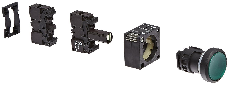 Illuminated Momentary Operation 1 NO Contact Type Siemens 3SB3245-0AA41 Pushbutton Unit Green 3SB32450AA41 Flat Button 24VAC//VDC Integrated LED