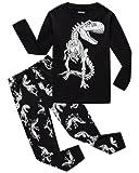 Boys Pajamas Dinosaur 100% Cotton Toddler Clothes Kids Pjs Children Sleepwear Shirts