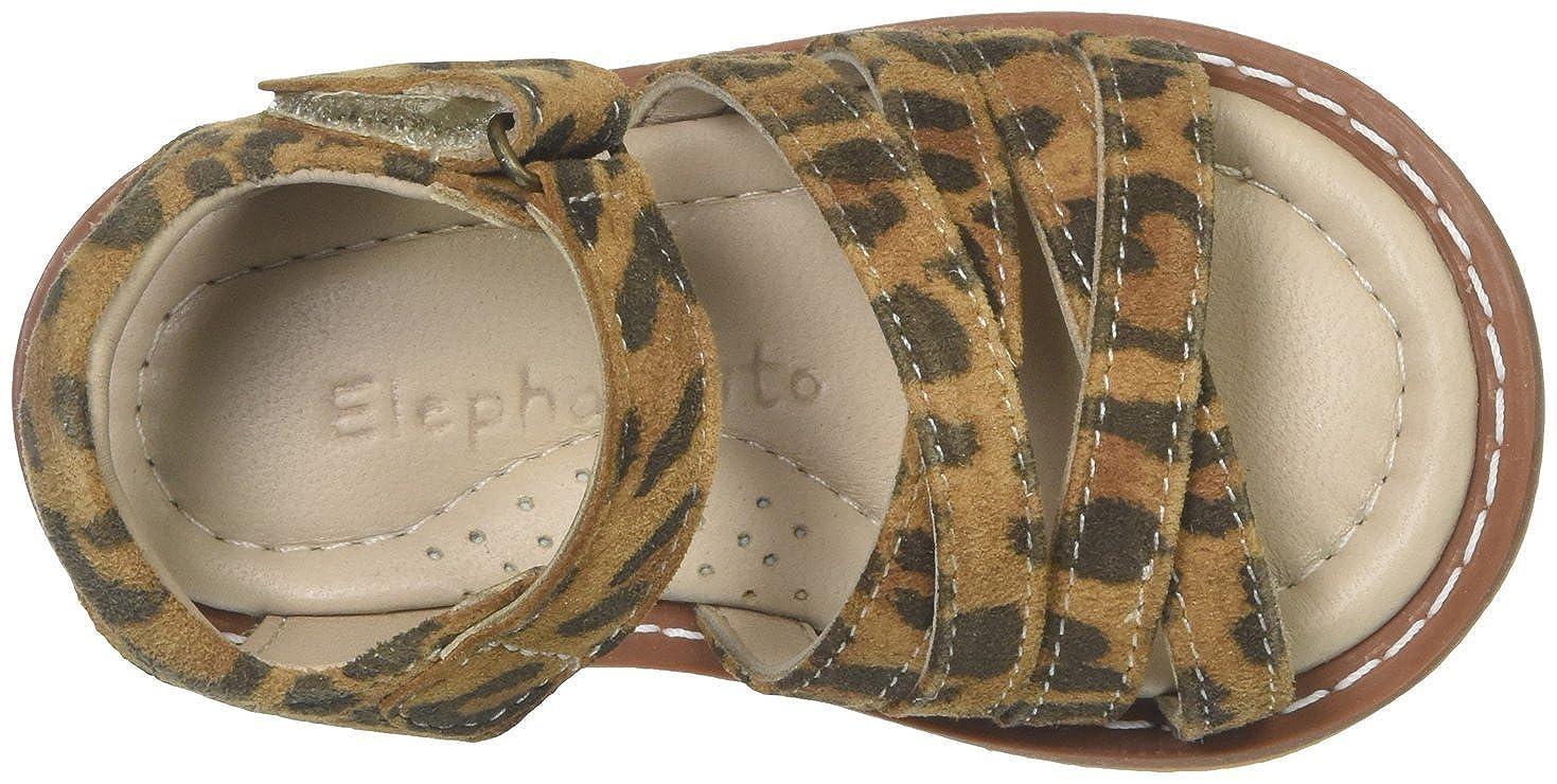 5 Infant - Leopard Inf//Tod Elephantito Baby Girls 2C Sandal