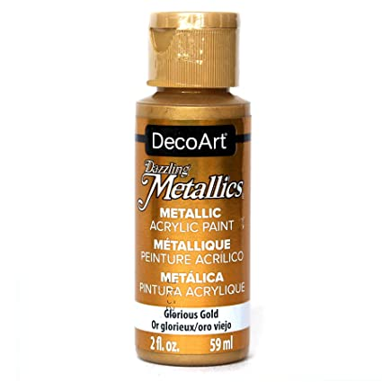 Deco Art Americana Acrylic Metallic Paint Glorious Gold Amazon